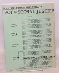 image of Martin Luther King tribute: Act for social justice [handbill]