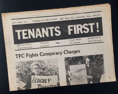 Cambridge, MA: Tenants First Coalition, 1976. 8 page tabloid newspaper format newsletter for Fair Ho...