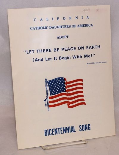 no place: California Catholic Daughters of America, 1976. 8.5x11 inches, very good, red, white and b...