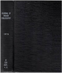Journal of Indian Philosophy:  Volume 6 (4 issues, Sept, Oct, Nov, Dec)