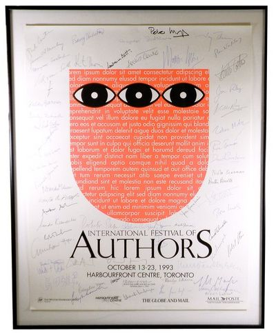 1993. Promotional poster for the annual Toronto literary festival, which each year since 1980 brough...