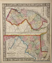 County Map of Maryland and Delaware. County Map of New Jersey