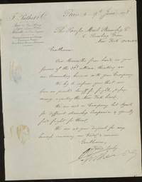 Letter of Transmittal On F. Putlet and Company Shipping Agents Letterhead, Addressed to The...