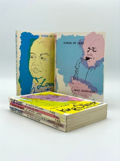 New York: A.S. Barnes for Perpetua Books, 1961. Closed tear to lower wrapper of Louis Armstrong volu...