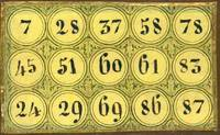 "image of Antique Italian ""Tombola"" Game"