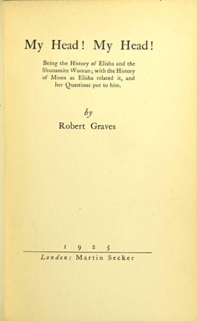 London: Martin Secker, 1925. First edition, 8vo, pp. 141, , (ads); original black cloth-backed decor...