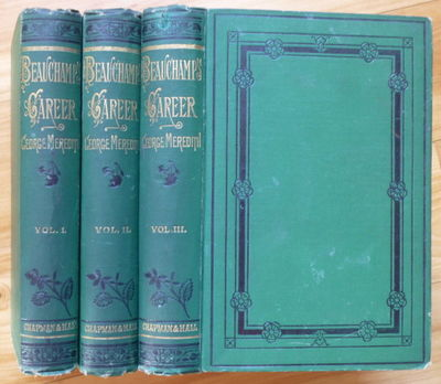 1876. In Three Volumes. London: Chapman and Hall, 1876. Original green cloth decorated in black. Fir...