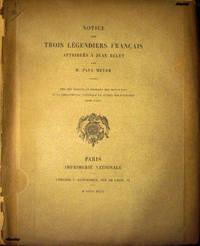 Notice sur trois légendiers français attribués à Jean Belet.