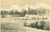 M.A.C. Pond Amherst, Mass unused Postcard