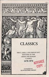 Catalogue 161/1989: Classics. First, Early and Important Editions of the  Greek and Roman Classics 1478-1876.