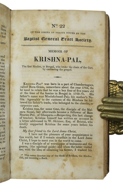 The First Appearance of The Memoir of Krishna-Pal . Memoir of Krishna-Pal, The Tracts of the Baptist...
