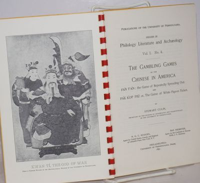 Las Vegas, NV: Gambler's Book Club, n.d.. 17p., red plastic comb binding cracked in the middle, 5.5x...