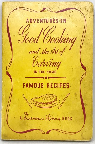 Bowling Green, Kentucky: Adventures in Good Eating, Inc., 1942. Third Edition. Stiff wraps. Yellow c...