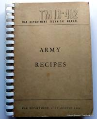 TM 10-412 War Department Technical Manual Army Recipes