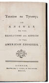 View Image 2 of 2 for Taxation no Tyranny; An Answer to the Resolutions and Address of the American Congress Inventory #39791