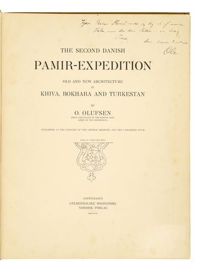 The second Danish Pamir-expedition.