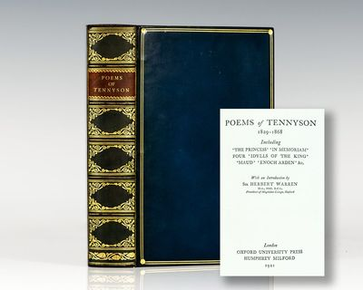 London: Oxford University Press, 1921. Octavo, finely bound in full leather by Riviere. Gilt titles ...