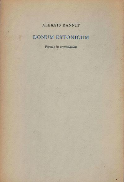 New Rochelle: Elizabeth Press, 1976. First edition. Paperback. Orig. printed stiff wrappers. Near fi...