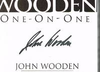 Coach Wooden One-on-One (ACTUAL SIGNED COPY) by Wooden, John & Jay Carty - 2003