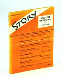 Address Unknown, in Story Magazine, September - October [Sept. - Oct.] 1938, Vol. XIII, No. 73
