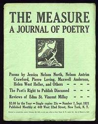 New York: Measure, 1921. Softcover. Near Fine. No. 7. Near fine in stapled wrappers. Signed by Louis...