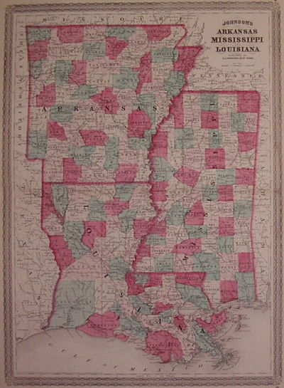 New York: Johnson, A.J., 1870. unbound. very good(+). Map. Engraving with original hand coloring. Im...