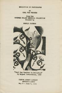 EXHIBITION OF PHOTOGRAPHS BY CARL VAN VECHTEN:; FROM THE COUNTEE CULLEN MEMORIAL COLLECTION FOUNDED BY HAROLD JACKMAN. TREVOR ARNETT LIBRARY, ENTRANCE LOBBY, MAY 6 - JUNE 3, 1955