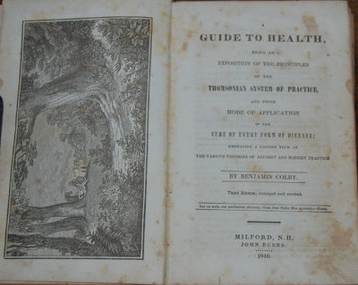 Milford, NH: John Burns, 1846. Third edition, enlarged. 8vo, Pp.(182), Illustrated with a frontispie...