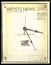 Artists news: a visual arts resource magazine. August-September 1981. Vol. IV, no. 4