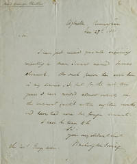 Autograph Letter, Signed. To Reverend George Miller