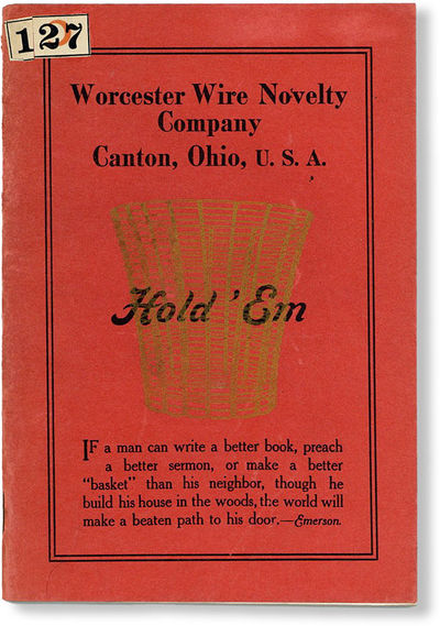 Canton, OH: Worcester Wire Novelty Co, N.d. (ca 1900). 12mo. Pictorial wrappers; 36pp; illus. Very G...