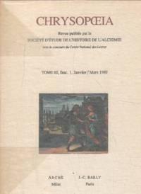 Chrysopoeia/ année complete 1989 / 4 numéros