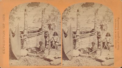 War Department, Corps of Engineers, U. S. Army. Very Good. A stereoview from Lieutenant George M. Wh...