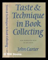 image of Taste_technique in book collecting; with an epilogue