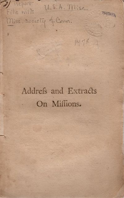 Norwich, Connecticut: Printed by Thomas Hubbard, 1797. First Edition. Wraps. Fair. Wraps. Approx. 8....