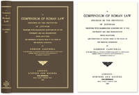 A Compendium of Roman Law Founded on the Institutes of Justinian..