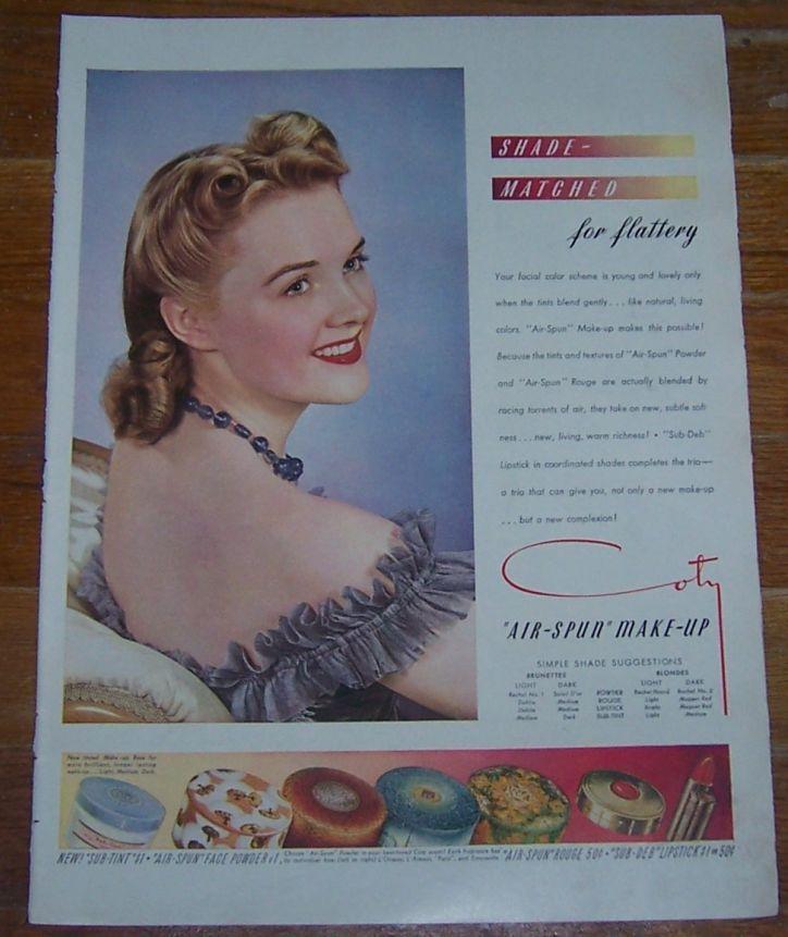 Image for 1941 AIR-SPUN MAKE-UP LIFE MAGAZINE COLOR ADVERTISMENT