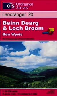 image of Beinn Dearg and Loch Broom, Ben Wyvis (Landranger Maps)