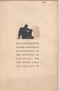 William Macbeth Gallery exhibition announcementfor Dale Nichols, January 18, 1938
