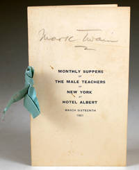 Monthly Suppers of the Male Teachers of New York at Hotel Albert