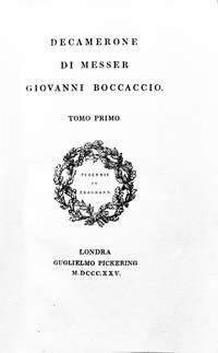 DECAMERONE DI MESSER GIOVANNI BOCCACCIO.