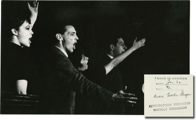 N.p.: N.p., 1962. Vintage oversize photograph from the Off-Broadway cabaret show