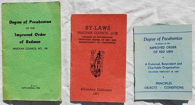 Monterey Park, CA: Degree of Pocahontas, Ninovan Council, No. 198, 1951. Paperback. Very Good. 3 Sta...