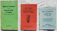 Three Pamphlets Issued By the Ninovan Council, No. 198; Membership Directory; By- Laws;...