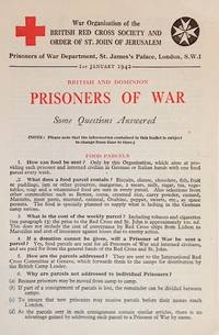British and dominion prisoners of war: some questions answered