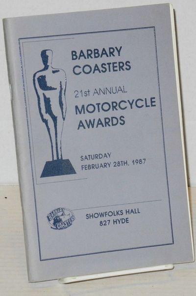 San Francisco: The Barbary Coasters Motorcycle Club, 1987. Magazine. 5.5x8.5 inches, photos, illustr...
