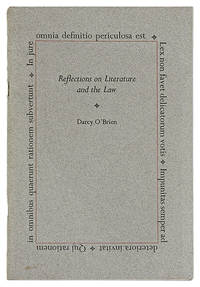 Reflections On Literature and the Law by  Darcy O'Brien  - 1987  - from The Lawbook Exchange Ltd (SKU: 18858)