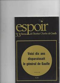 JOURN2ES DE NOVEMBRE 1990, derniers messages by Revue De L'institut Charles De Gaulle - 1993 - from Livre Nomade and Biblio.com
