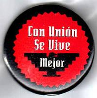 image of Con Unión se vive mejor [pinback button]