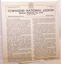 Townsend National Legion, official bulletin no. 1-37, January 18, 1937